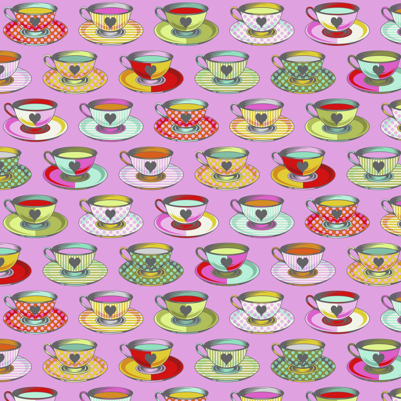 Wonder - Tea Time - Curiouser & Curiouser Collection - Tula Pink - PWTP163.WONDER