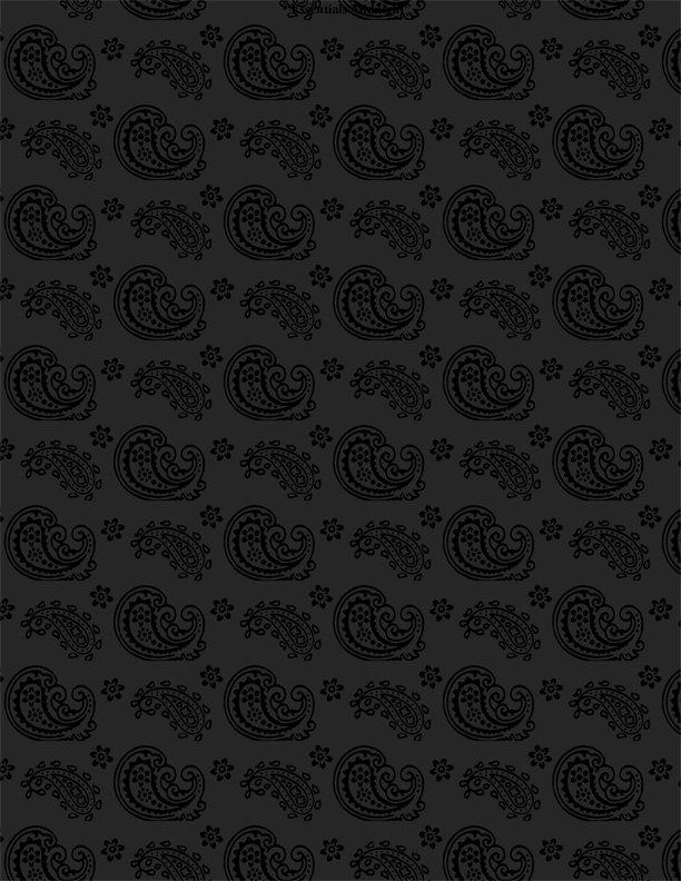 Black Paisley Toss - Essentials Midnight - 1817 39085 999