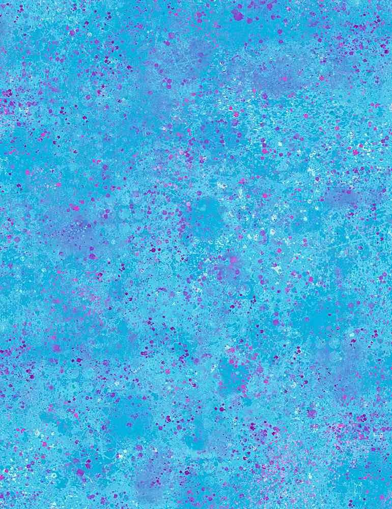 Aqua - Stamped Texture - Pop of Color - Quilter's Trek - CD8834-AQUA