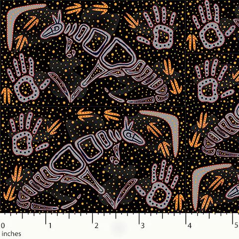 Black Rock Art Dreaming RADB - Aboriginals by M & S Textiles Australia