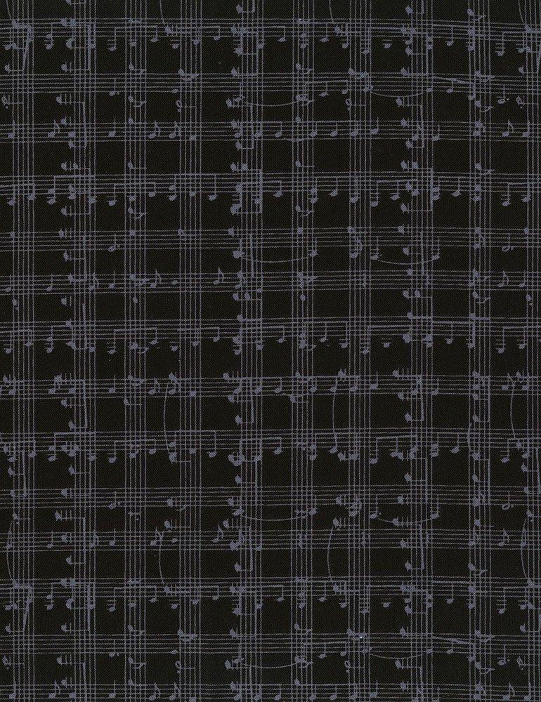 Black Music Notes Grid - Row by Row 2018 - ROW-C5935 BLACK