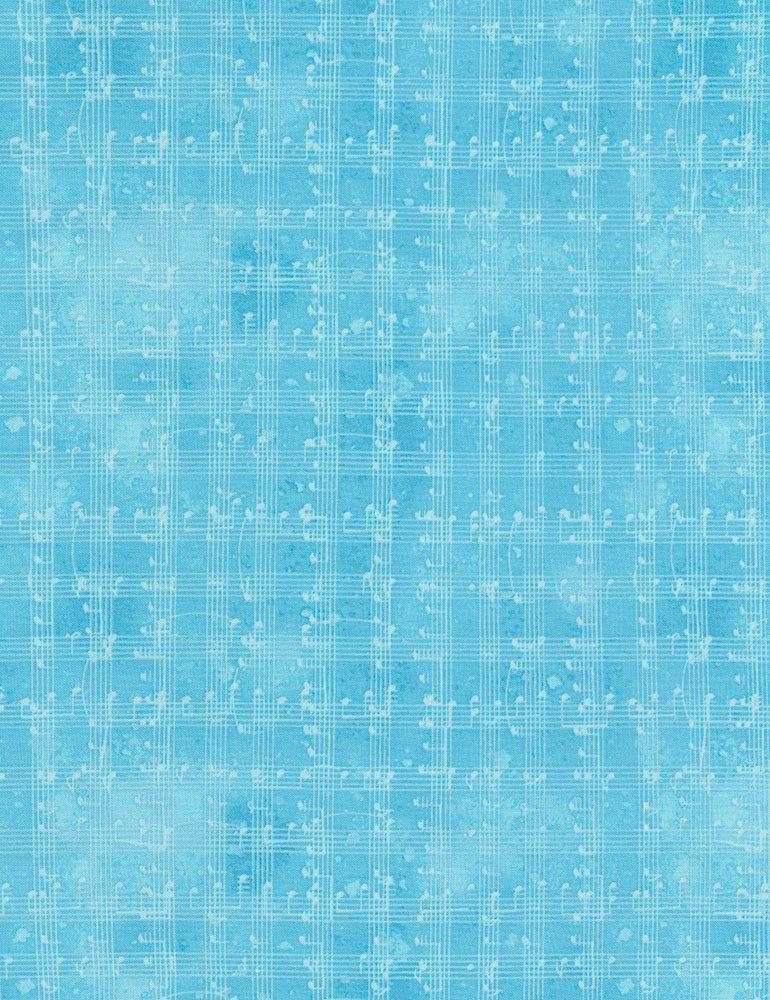 Blue Music Notes Grid - Row by Row - ROW-C5935 BLUE