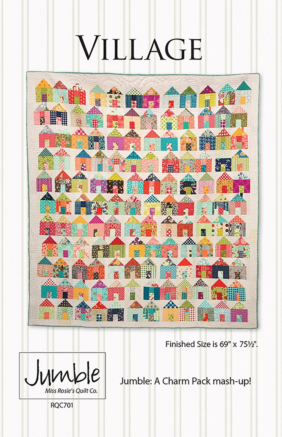 Village Quilt Pattern and Template - RQC701+
