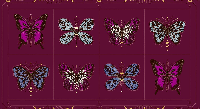Purple Velvet - Tiger Fly Panel - Metallic - RS2012 12M