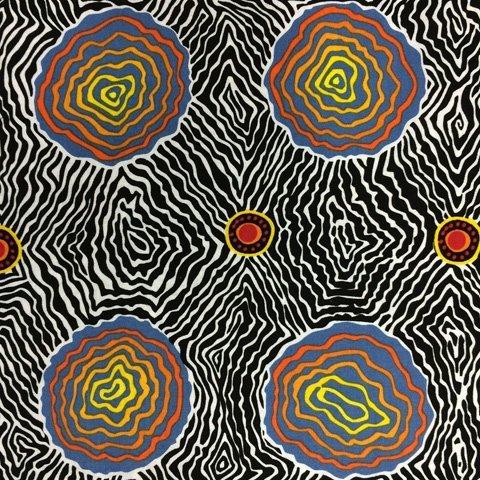 Black - SALT PLAIN BLACK - SAPB - Aboriginals by M & S Textiles Australia