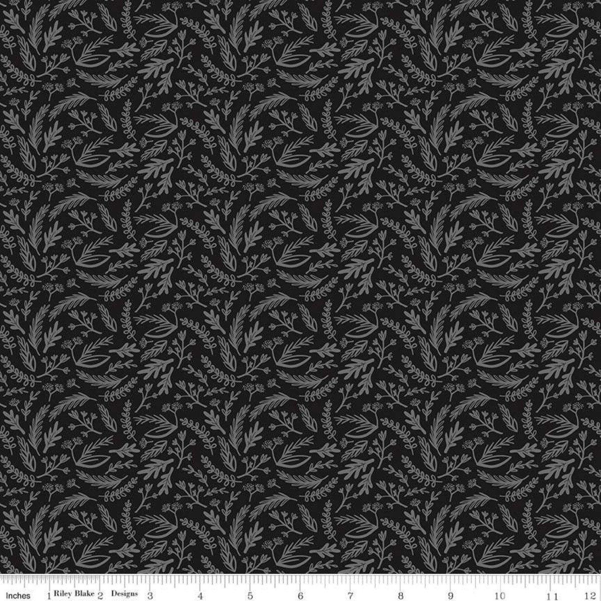 Juniper Sprigs Gray Sparkle - SC8332-GRAY
