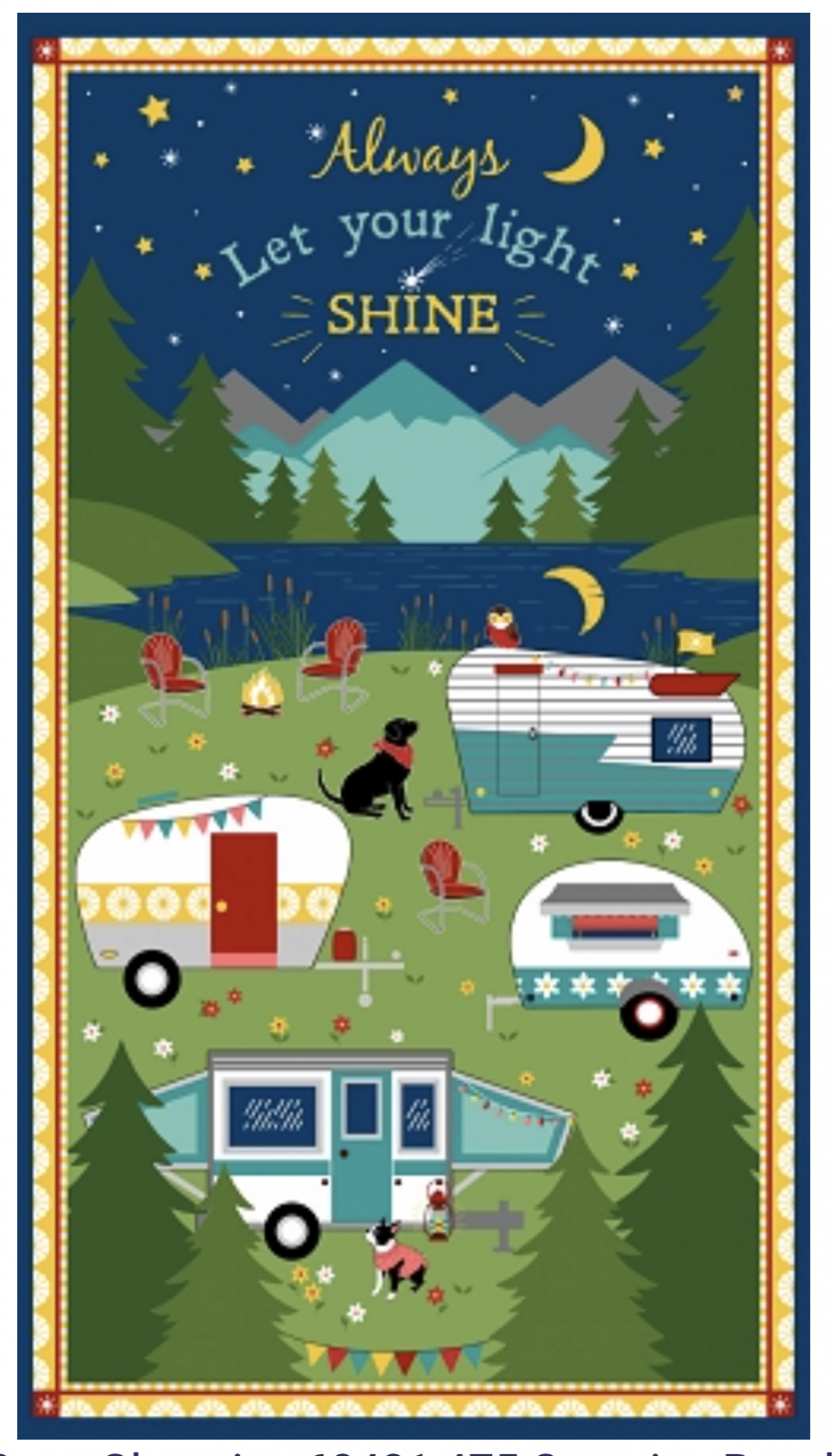 Let Your Light Shine Panel - Gone Glamping - 3007-68481-475