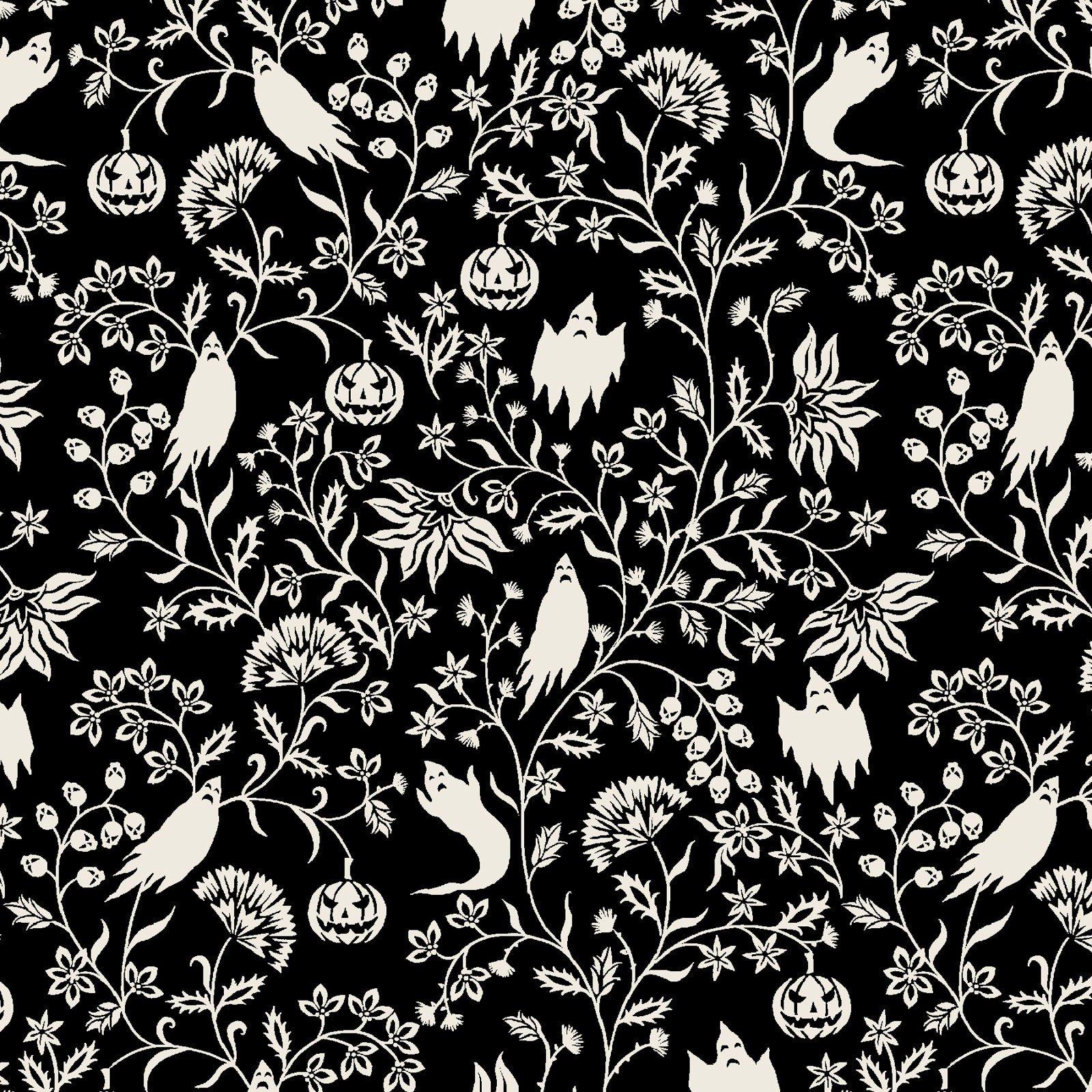Black -Ghostly Vine -  Harvest Moon by Grace Popp - SEF5249-99