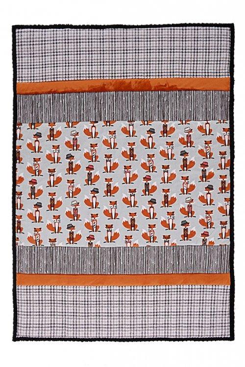 Sir Fox Sensational Strips Cuddle Kit - 38 x 58 - Shannon Fabrics