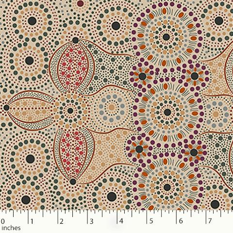 Ecru - Spirit Place Ecru - Aboriginals by M & S Textiles Australia - SPE
