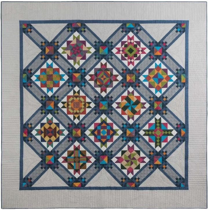 Stargazing Block of the Month - 92 x 92