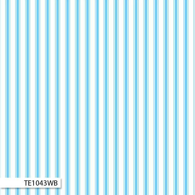 Ticking Stripe - White and Blue