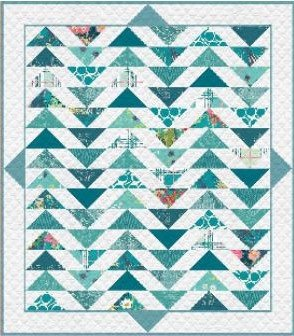 Plenum - No. 8 Teal Thoughts Quilt Kit 57 1/2' x 64