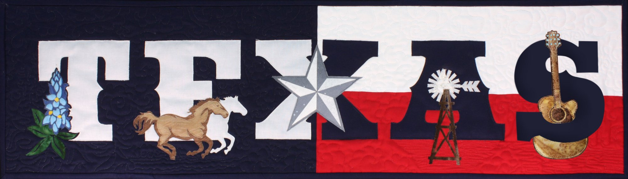 Texas Laser cut applique kit includes front and binding - SP-TEXS-1