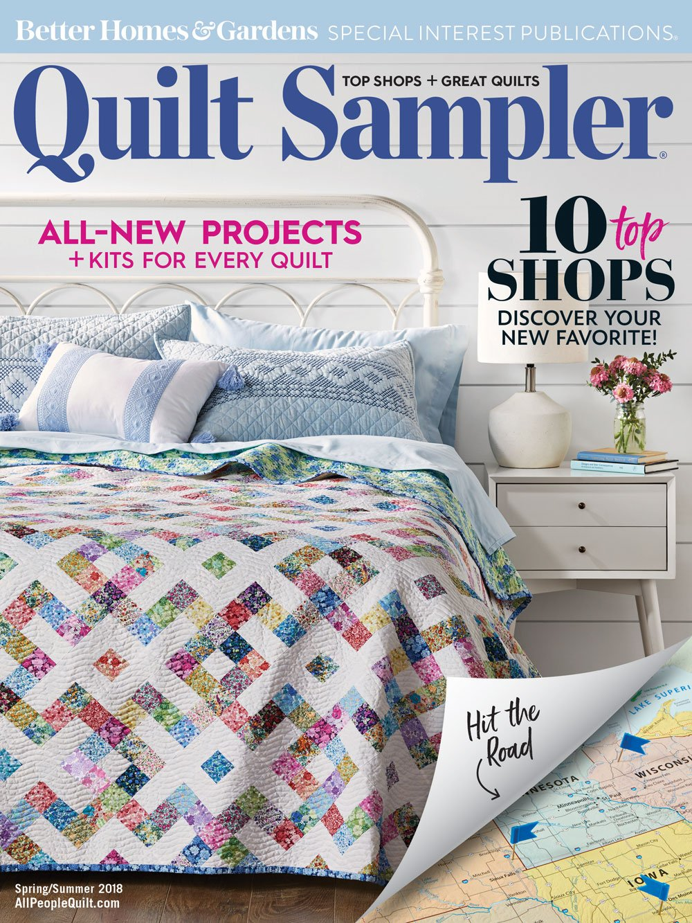 Top Shop Better Homes & Gardens Quilt Sampler Spring/Summer 2018