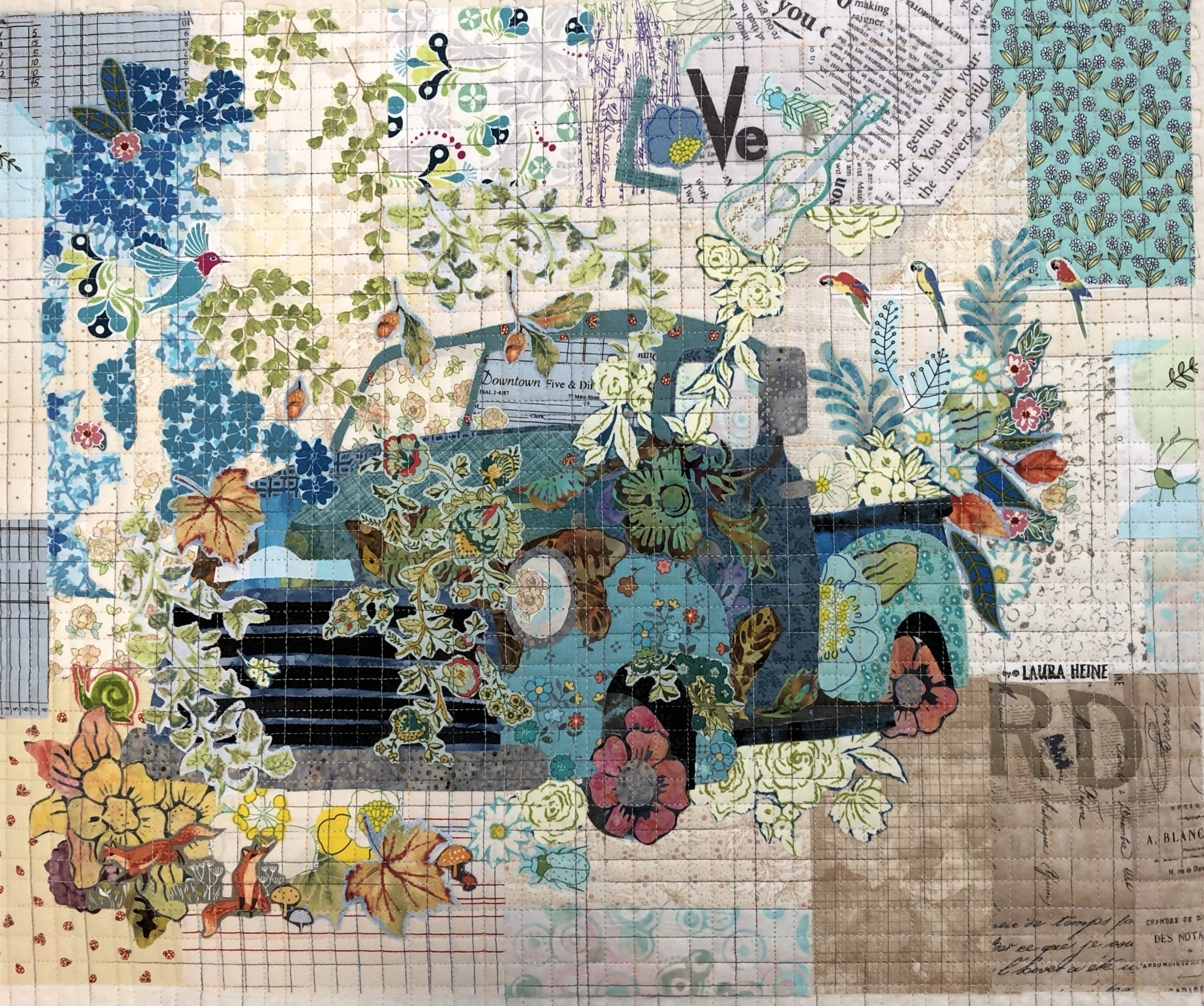 Teeny Tiny Collage #2 Truck KIT by Laura Heine