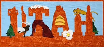 Utah Laser cut applique kit includes front and binding