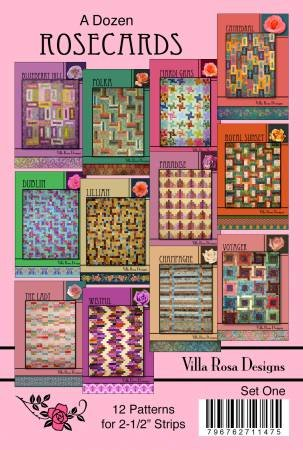 Set One - A Dozen Patterns for 2 -/2in Strips by Villa Rosa Designs - VRDDR001