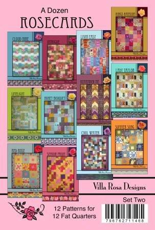 Set Two - A Dozen Patterns for  Fat Quarters by Villa Rosa Designs - VRDDR002