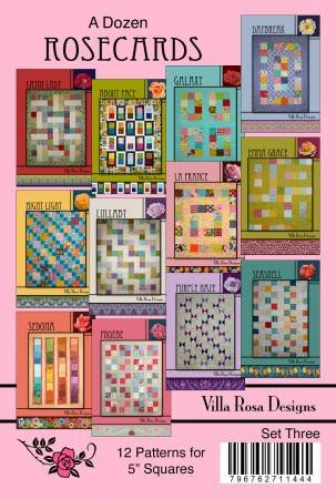 Set Three - A Dozen Patterns for 5in Squares by Villa Rosa Designs - VRDDR003