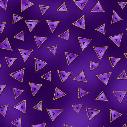 Dark Purple Metallic - Triangle - Laurel Burch Basics - Y0841-28M