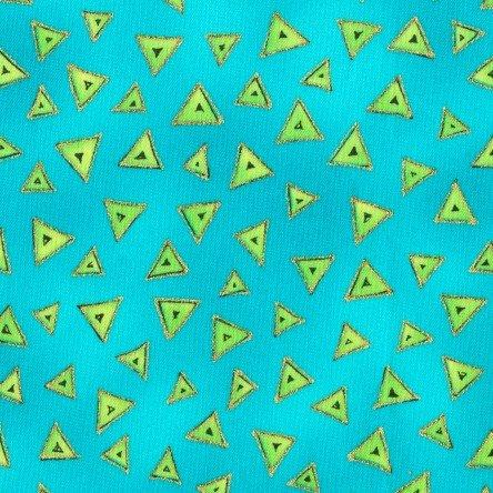 Aqua Metallic - Triangle - Laurel Burch Basics - Y0841-33M