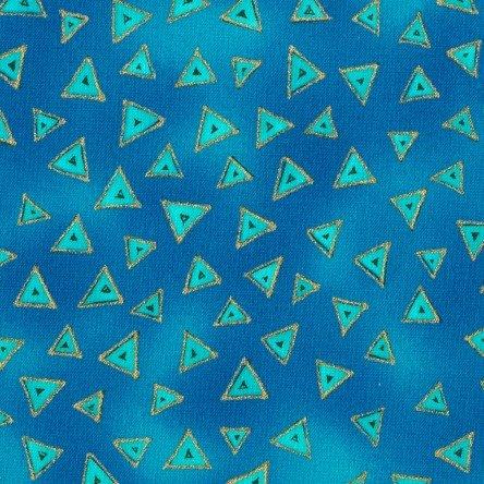 Dark Aqua - Triangle - Laurel Burch Basics - Y0841-34M