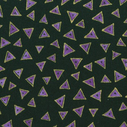 Black Metallic - Triangle - Laurel Burch Basics - Y0841-3M