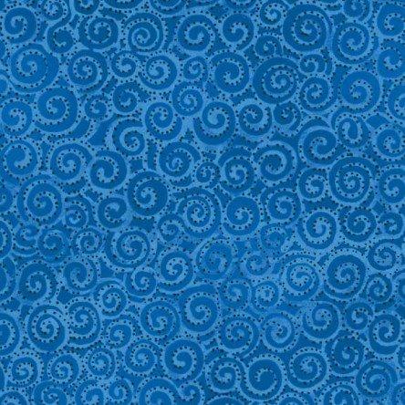 Dark Blue - Swirl - Laurel Burch Basics - Y1293-30