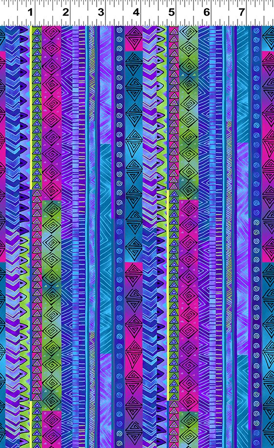 Dark Blue Stripe - Celestial Magic by Laurel Burch - Y3163-30
