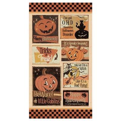 Multi Color Panel - 24x44 - Retro Halloween by Dan DiPaolo - Y3245-55