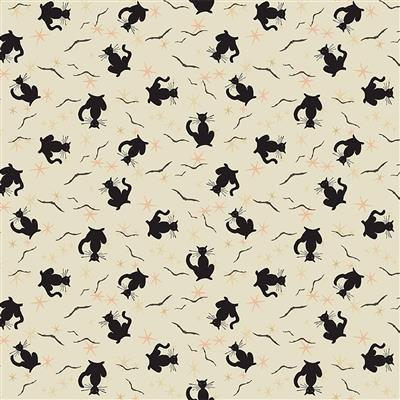 Cream - Black Cats - Retro Halloween by Dan DiPaolo - Y3248-57