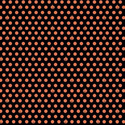 Orange - Pumpkin Dot - Retro Halloween by Dan DiPaolo - Y3249-36