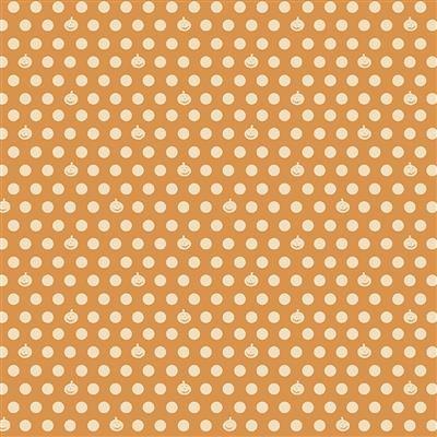 Dark Gold - Pumpkin Dot - Retro Halloween by Dan DiPaolo - Y3249-69