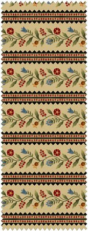 Folk Art Garden Flannel F18172 E
