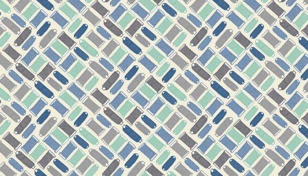 Handmade 1889 B Cotton Reels Blue