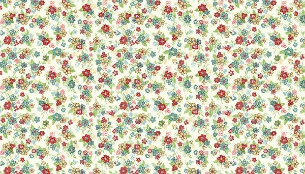 Katie Jane 1903 Q Multi Floral Ivory