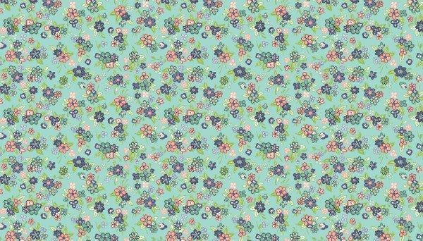 Katie Jane 1903 T Multi Floral Turquoise