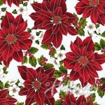 Hoffman  Poinsettia Song Q7635 113S Frost Silver