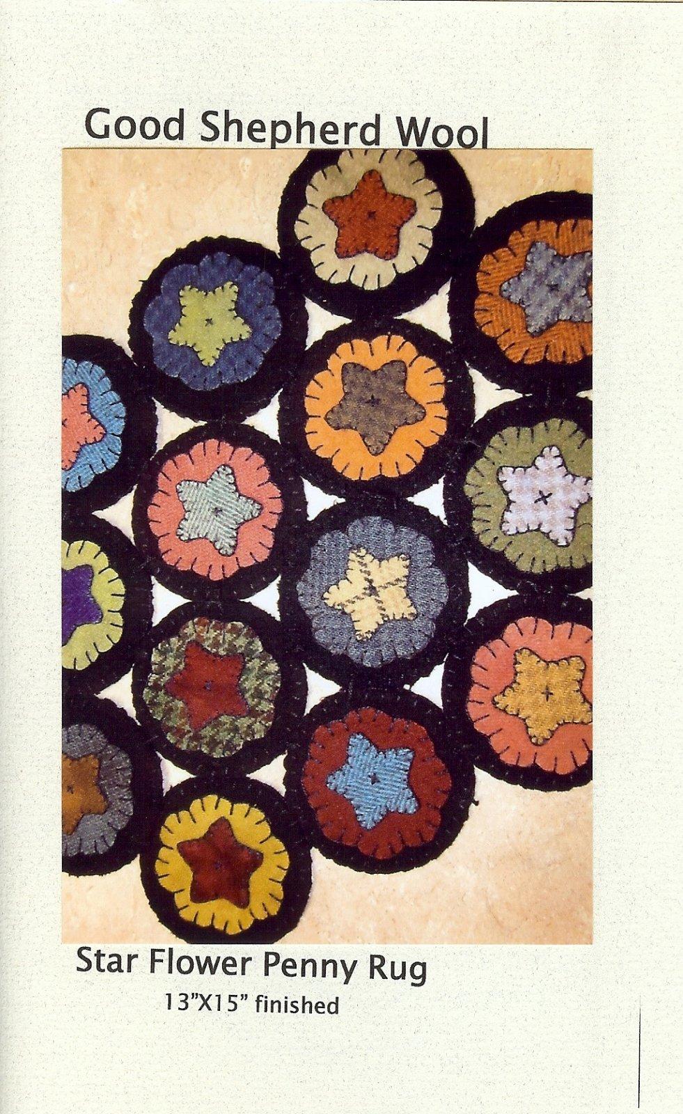 Star Flower Penny Rug