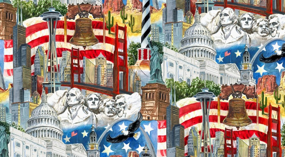 USA All the Way 7403 077 Collage