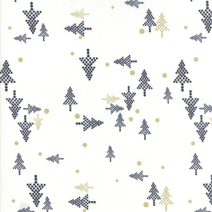 White Christmas Metallic by Zen Chic for Moda