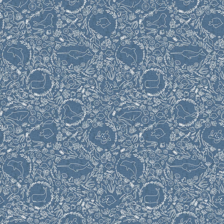 Under the sea Denim D8 by Katia Fabrics