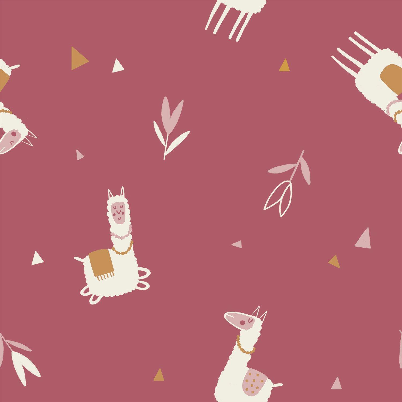 Lamas (Llamas) Jersey Gold jg1 by Katia Fabrics