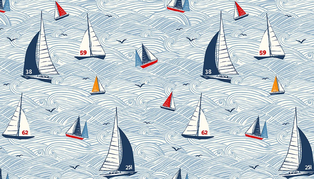 Sail Away Collection by Makower UK