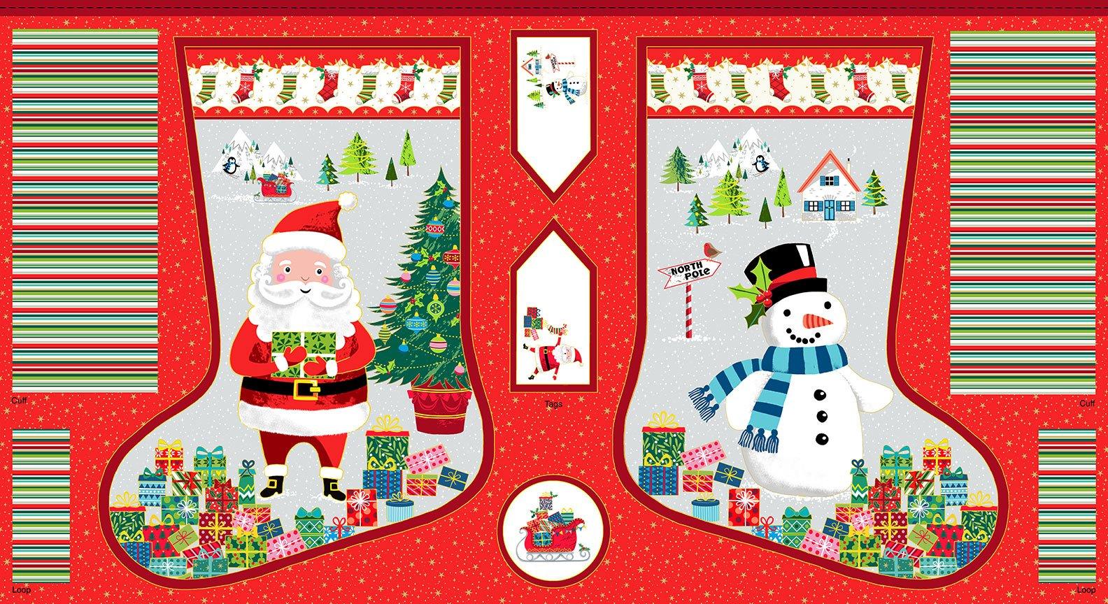 Santa Express Christmas Stocking 2388/1 by Makower