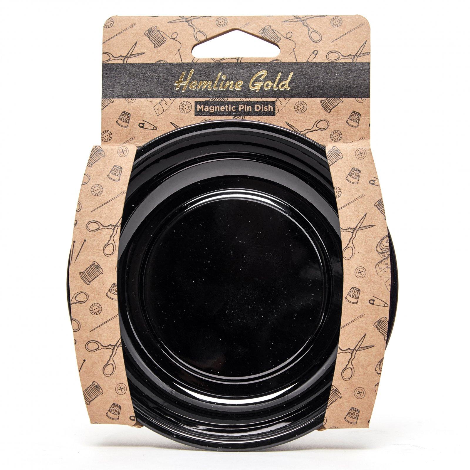 Magnetic Pin Dish Black - Hemline Gold