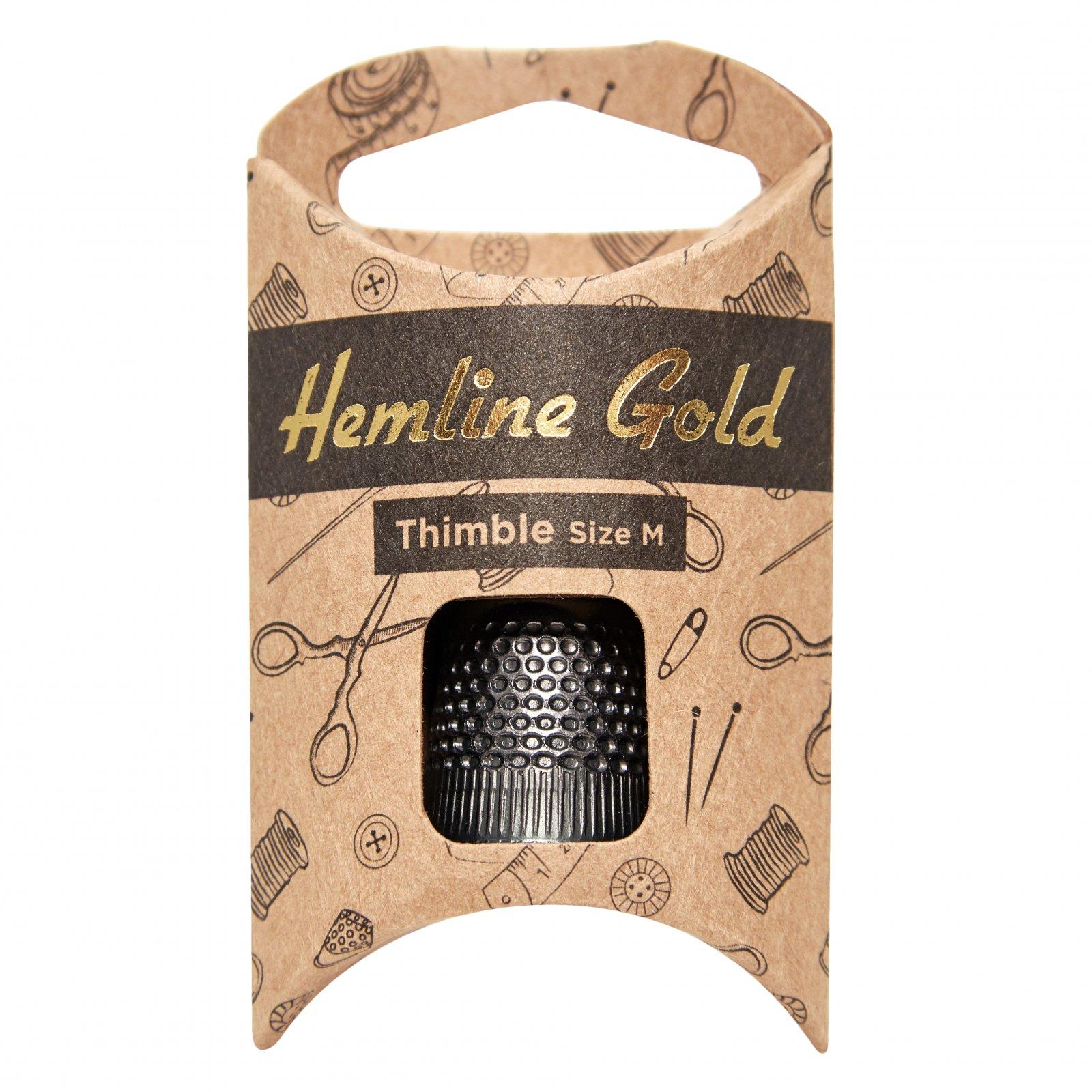 Black Thimble Large - Hemline Gold