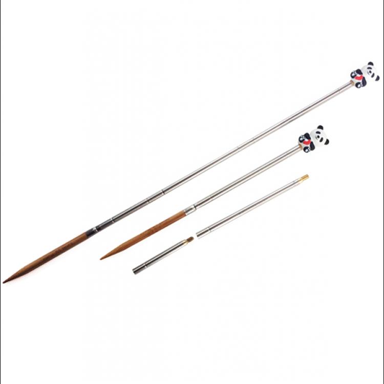 Hiya Hiya Interchangeable Straight Needles with Panda Cable Stoppers