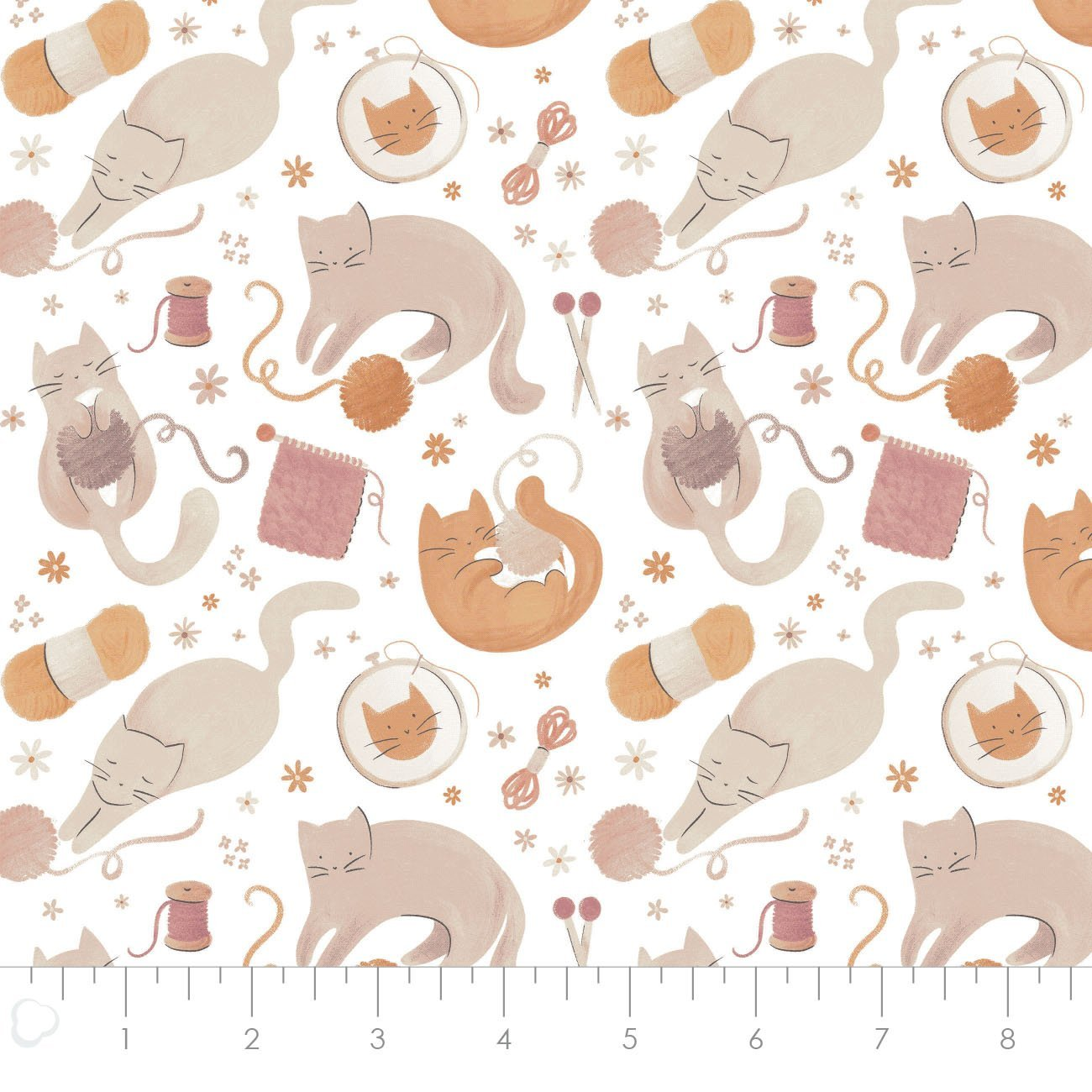 Smitten Kitten by Laura Marshall for Camelot Fabric